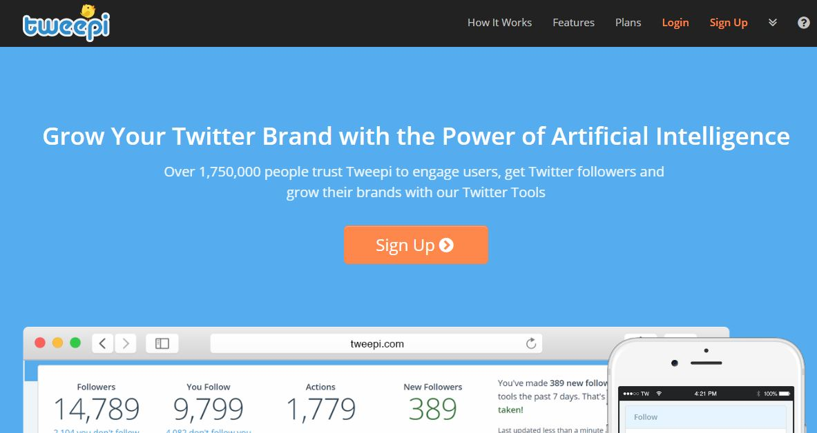 Tweepi Twitter Management Tool