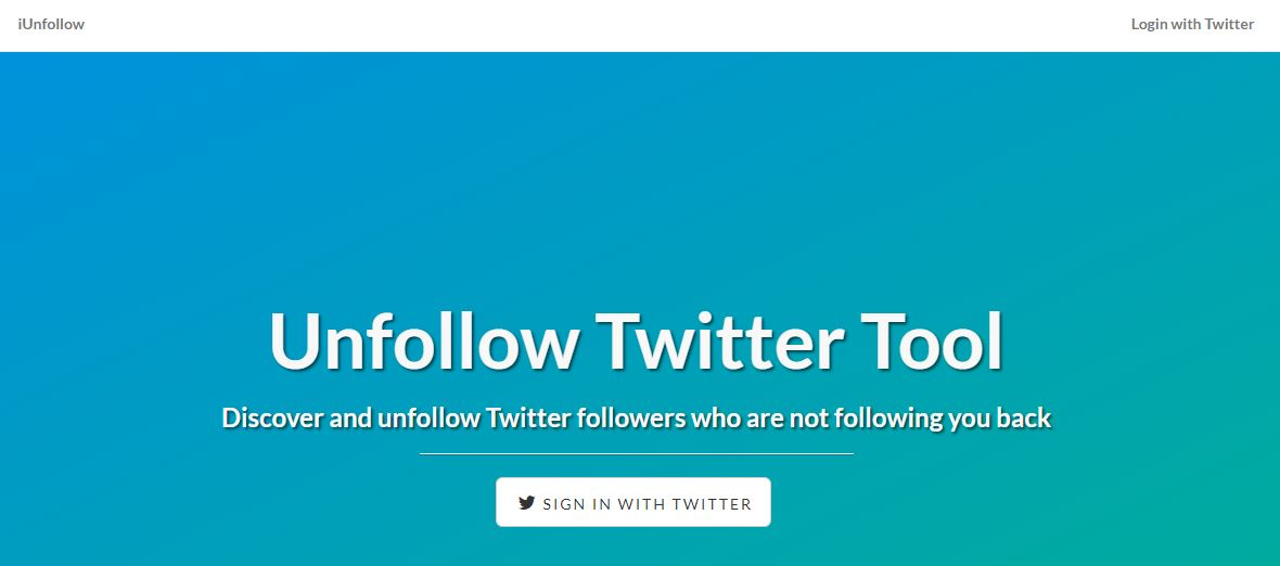 iUnfollow Unfollow Twitter Tool