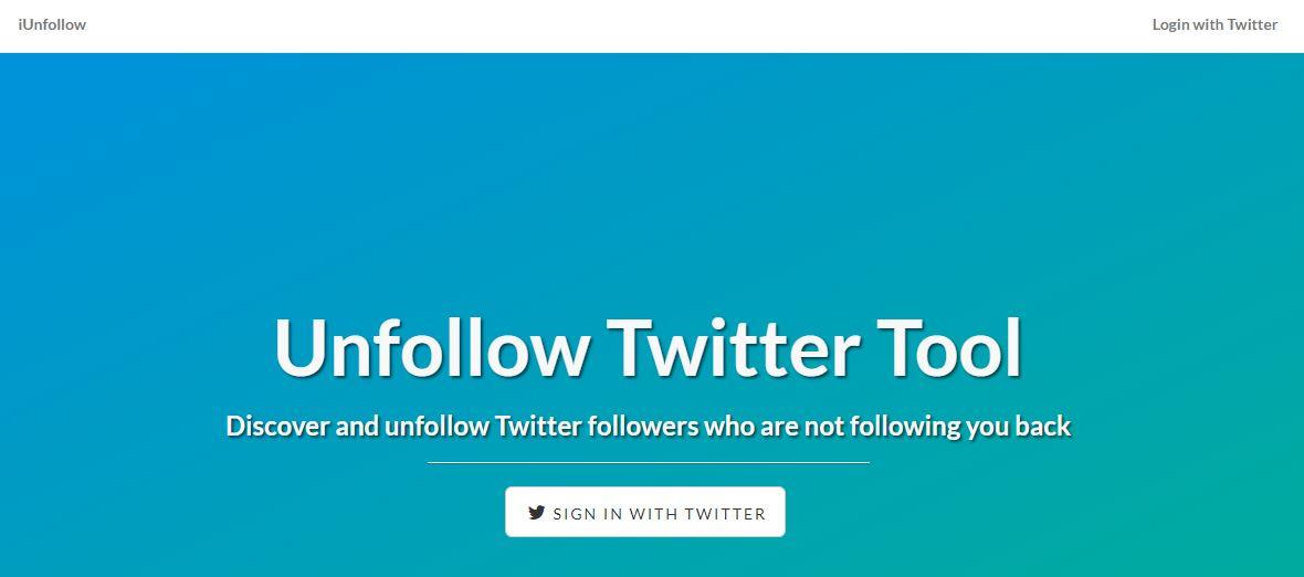 iUnfollow Unfollow Twitter Tool