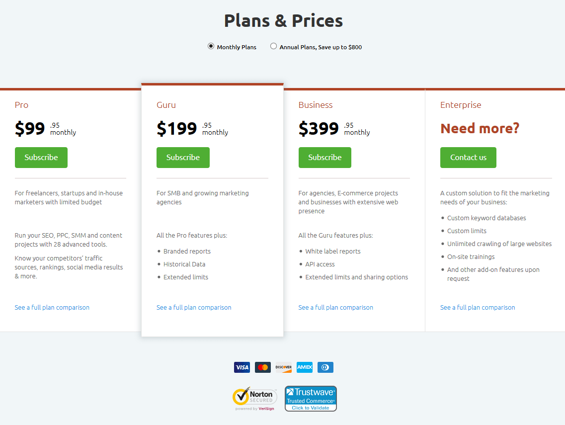 Payment Plans  Seo Software