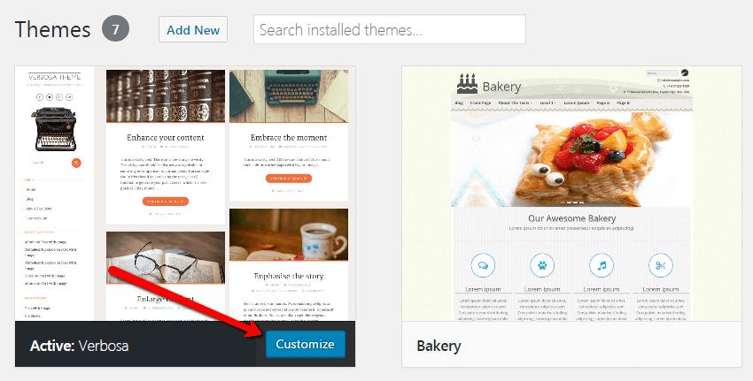 start-a-blog-Theme-customize