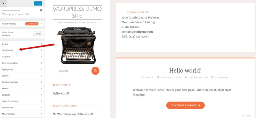 start-a-blog-Theme-customizer