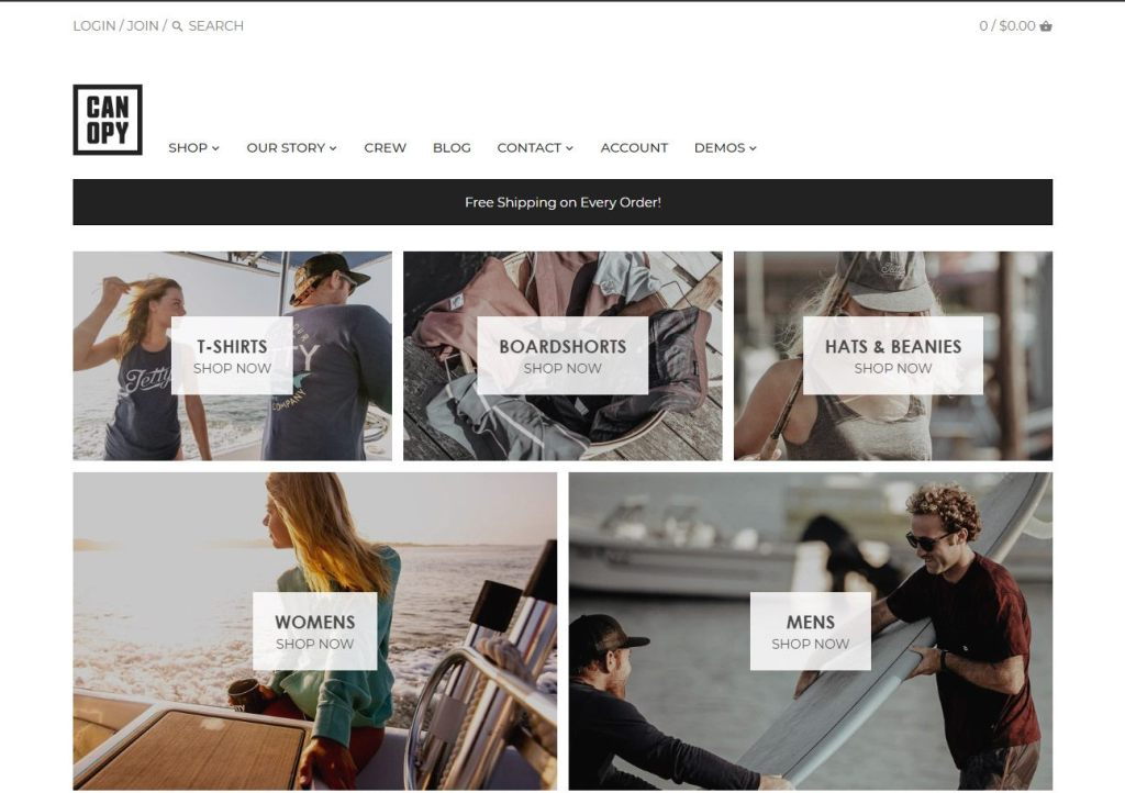 Canopy shopify theme
