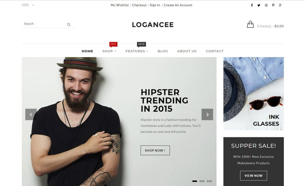 Logancee shopify theme