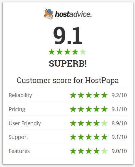 hostpapa ratings hostadvice