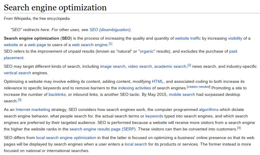 wikipedia keyword-rich internal links