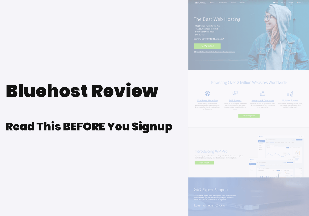Bluehost review, overall experience, hosting features and customer support