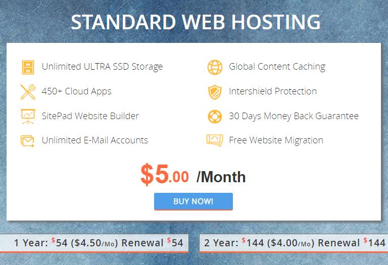 interserver standard web hosting