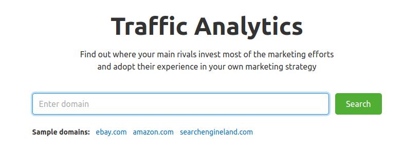 traffic analytics home