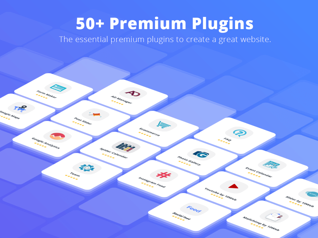 10Web 50 plus plugins