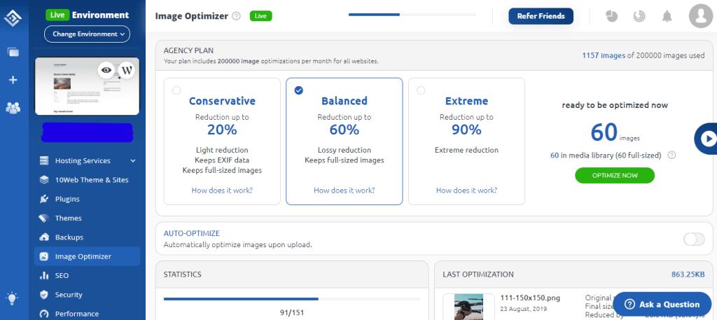 10Web Image Optimizer types