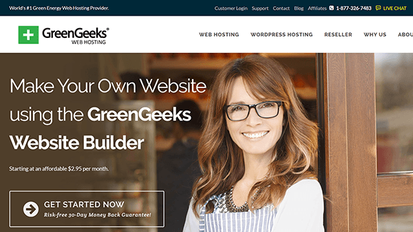 greengeeks website builder