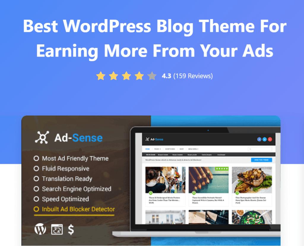 Ad-Sense Optimized WordPress Theme