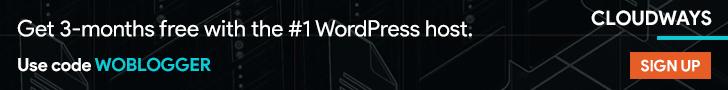 728x90 Cloudways Promo Code WOBLOGGER