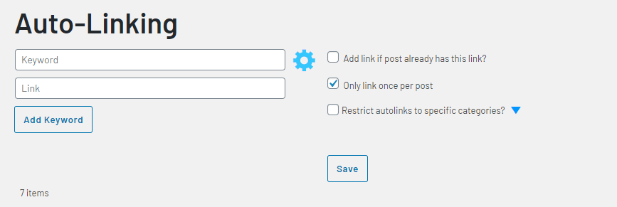Link Whisper Auto Linking