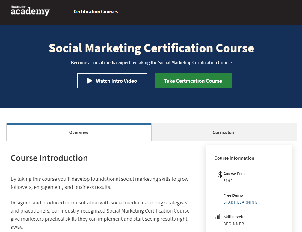 Social Marketing Certification Course