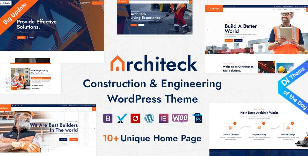 Architeck construction theme