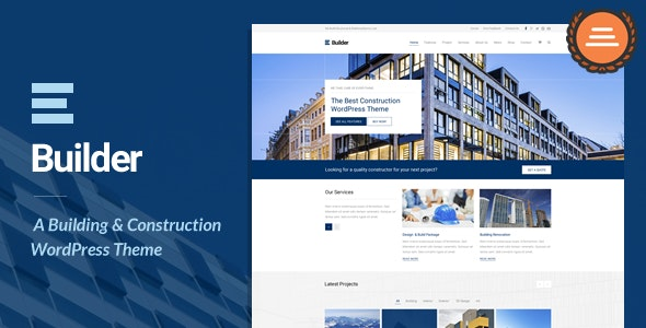 Builder is another WordPress construction theme