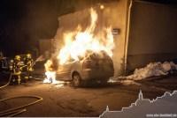 Brennende Autos in Buchholz: Die ersten Fotos