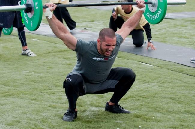 Jason Khalipa en action lors d'une competition