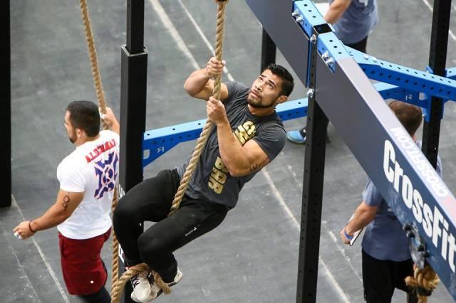 Julian Alcaraz en en action lors des CrossFit Games