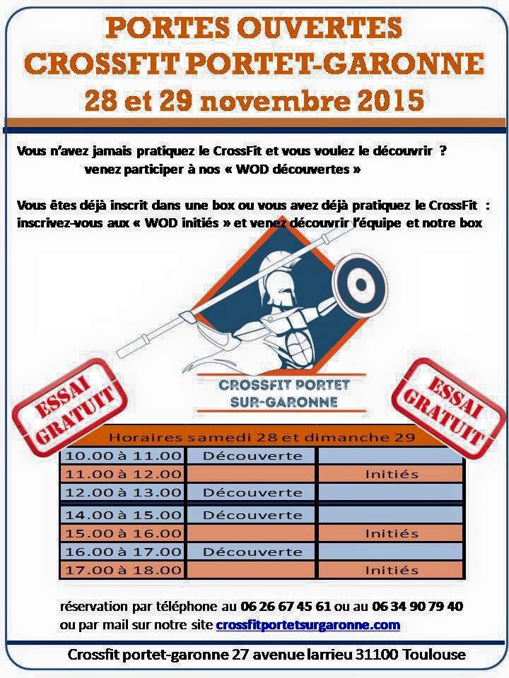 CrossFit ®* Portet-sur-Garonne planing portes ouvertes
