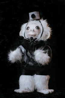 Albino Circus Monkey Doll