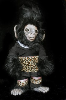 Dark Monkey Doll