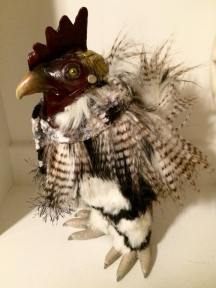 Commissioned Rooster Doll with Scarf