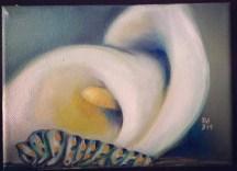 CALA & CATERPILLAR | 2013 | oil on small canvas