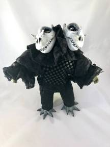 Two-Headed Bearded Dragon Skull Mini Doll