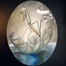 "WESTWARD | 2016 | oil on oval canvas, 10"" x 14"""