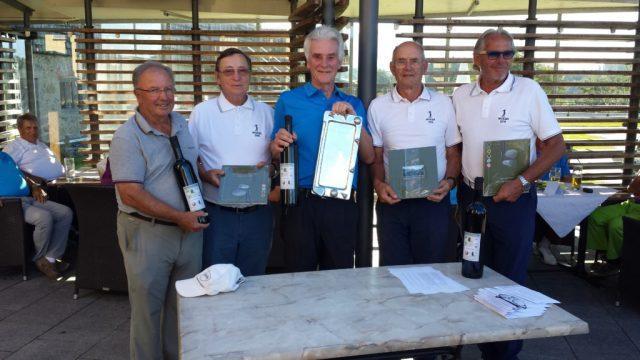 Die Verantwortlichen der beiden Rallyes, Erwin, Horst, Egbert, Peter und Peter