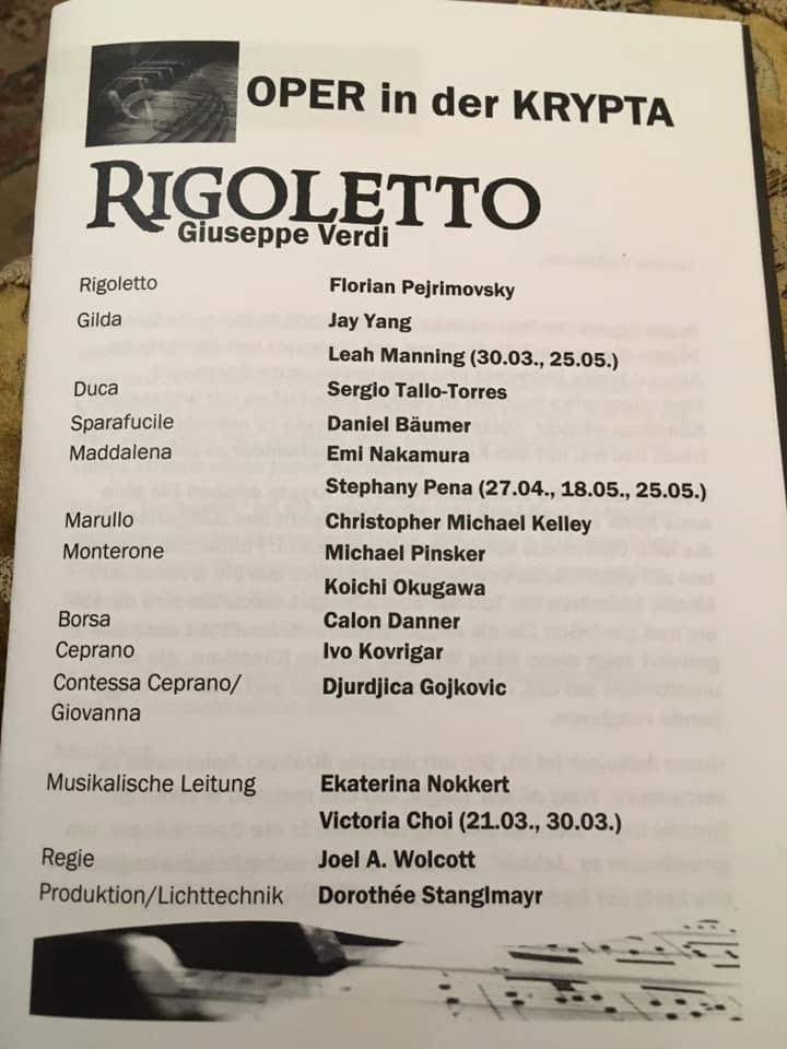 Theaterzettel Rigoletto