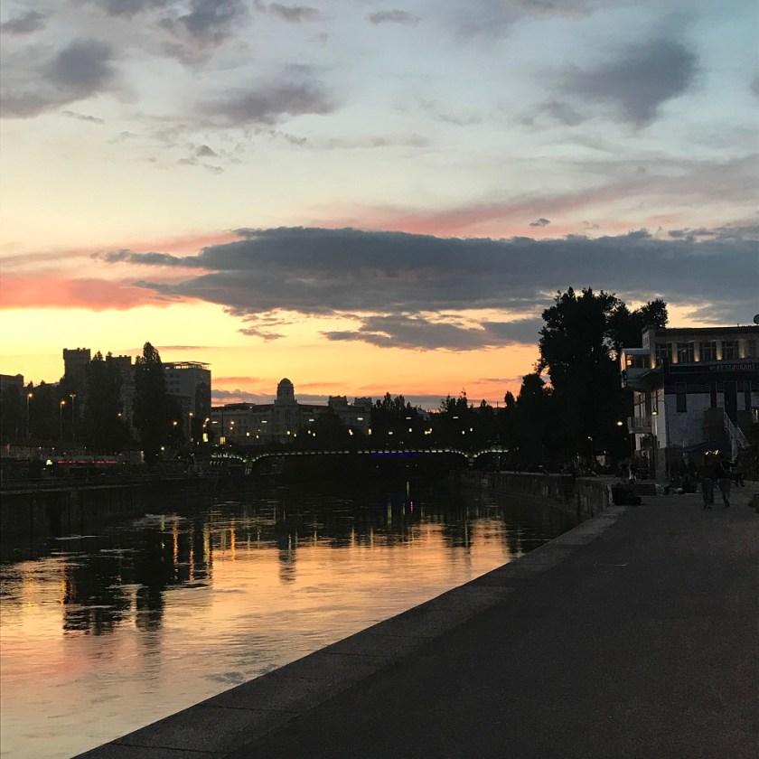 Abend am Donaukanal