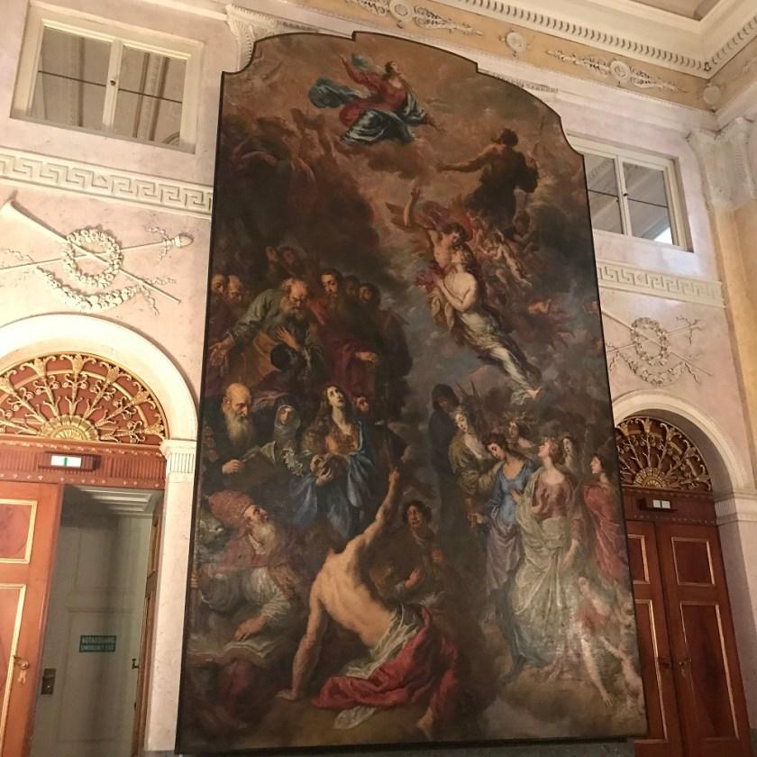 Kapitelsaal von Joseph Kornhäusel mit dem barocken Hochaltarbild
