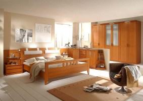 Schlafzimmer Kirschbaum mit Riegelfront   Wohnello.de