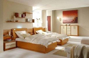 Schlafzimmer mit Einzelbetten   Wohnello.de