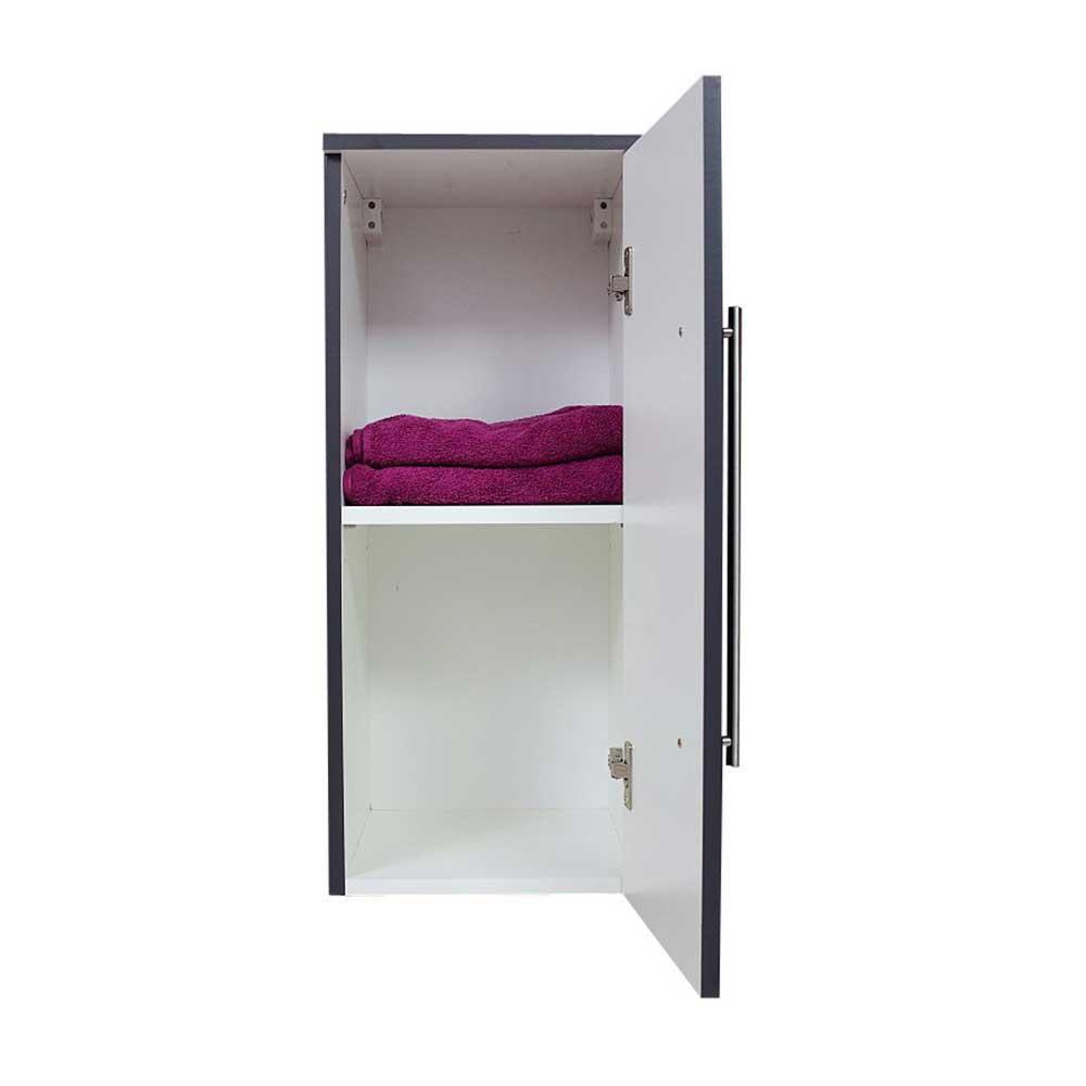 30x71x33 Badezimmer Oberschrank in Anthrazit 1trig mit Einlegeboden  Rich