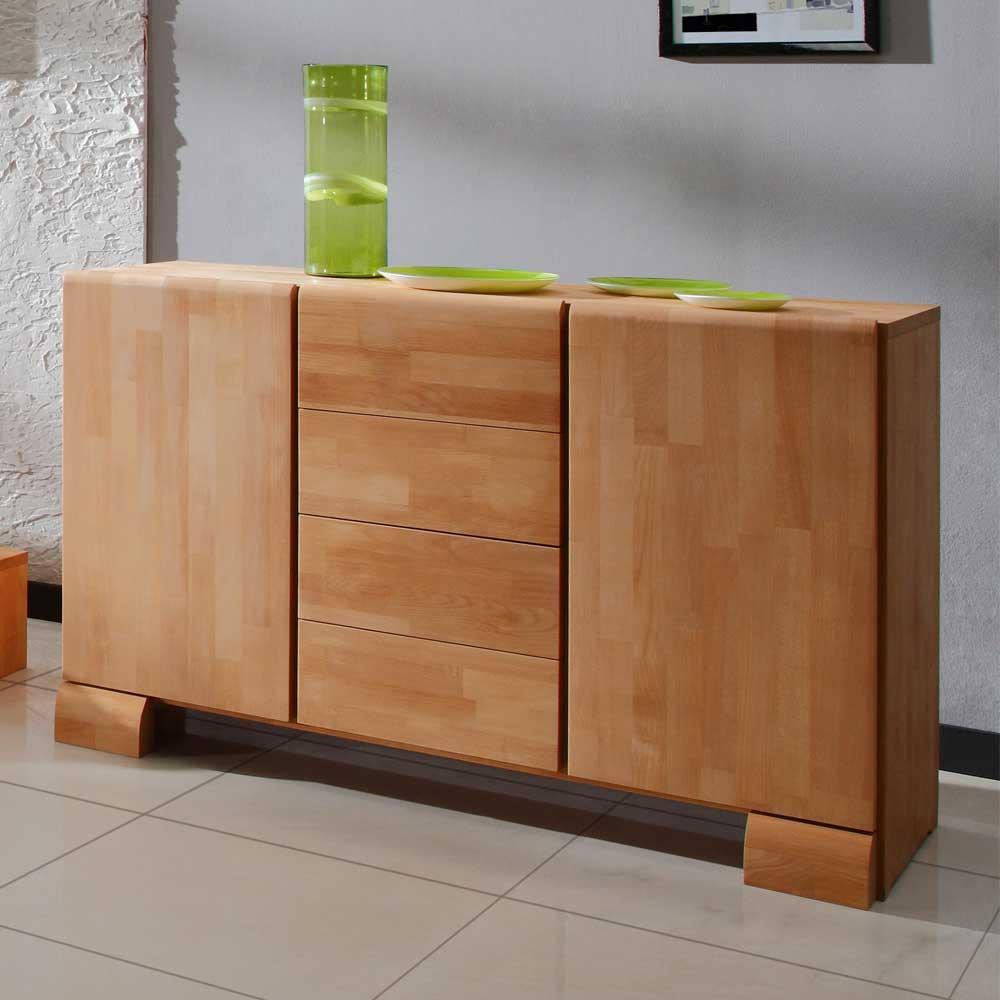 Anrichte Malpelo aus Buche Massivholz 120 cm breit Wohnende