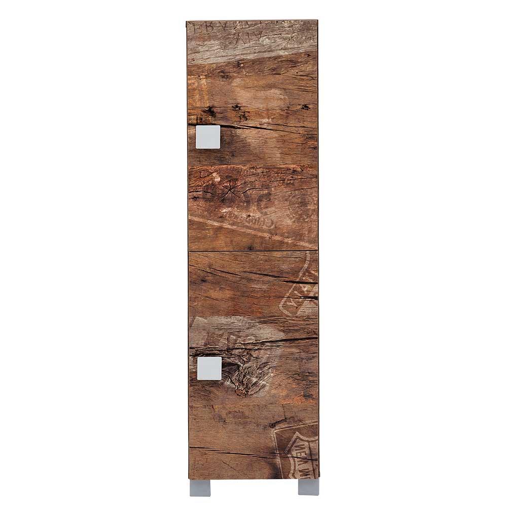 Badezimmerschrank Holzoptik