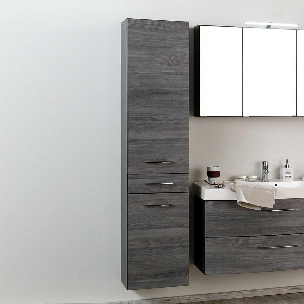 Badezimmer Hochschrank Darina in Grau  Wohnende