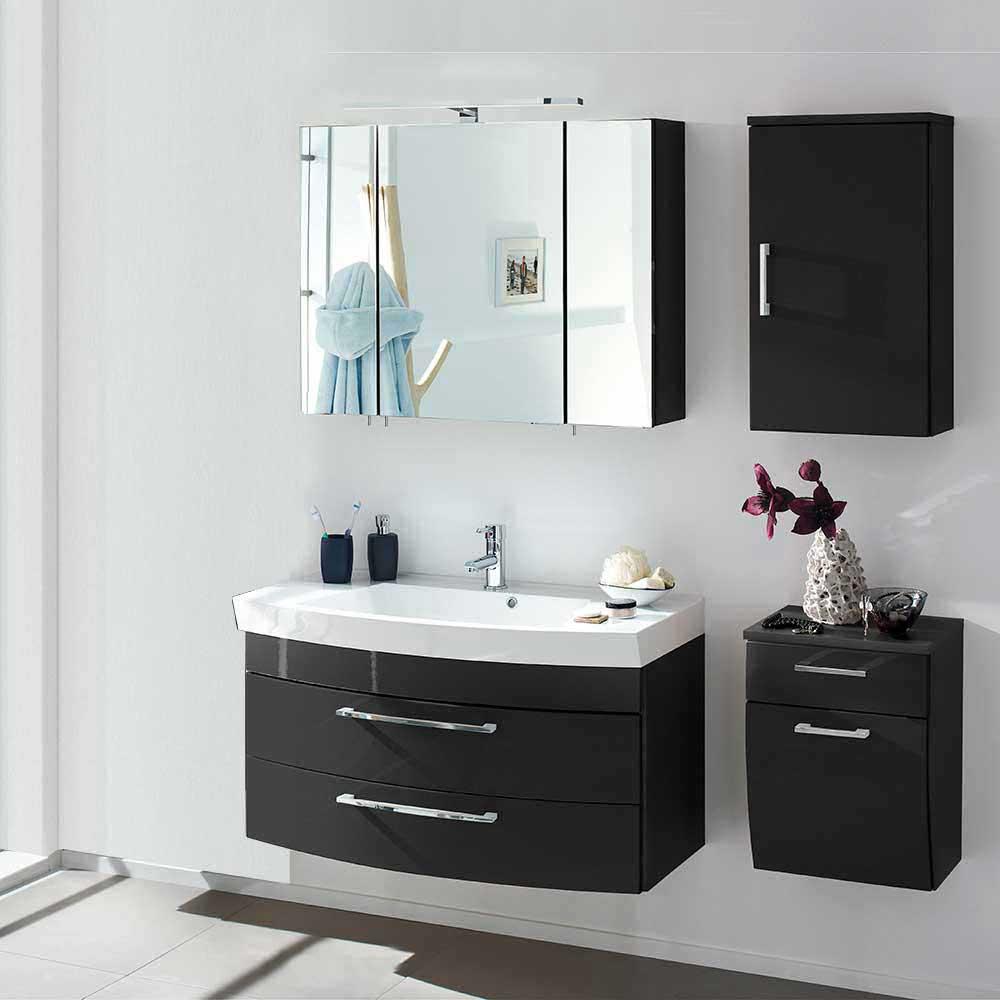 Badezimmermbel Set mit Spiegelschrank Boisan  Wohnende