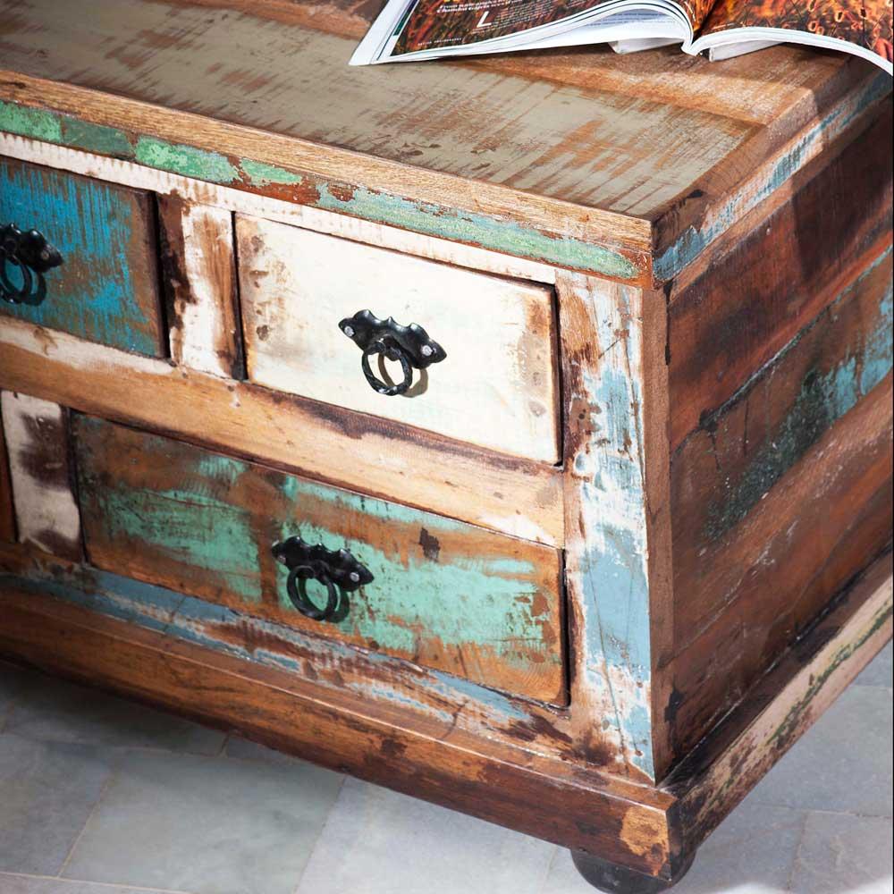 Couchtisch in Vintage Design aus Recyclingholz  Jamaica