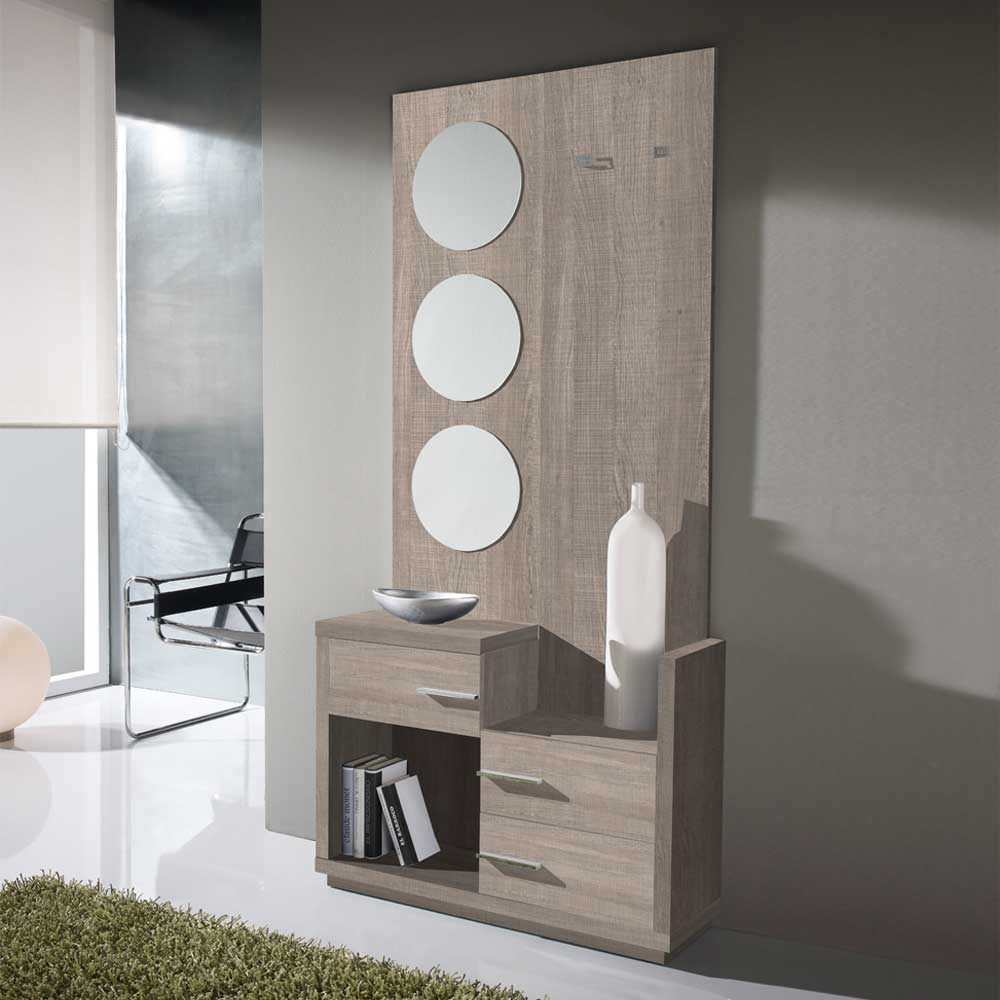 Design Flur Garderobe mit Spiegeln Bravenia  Wohnende
