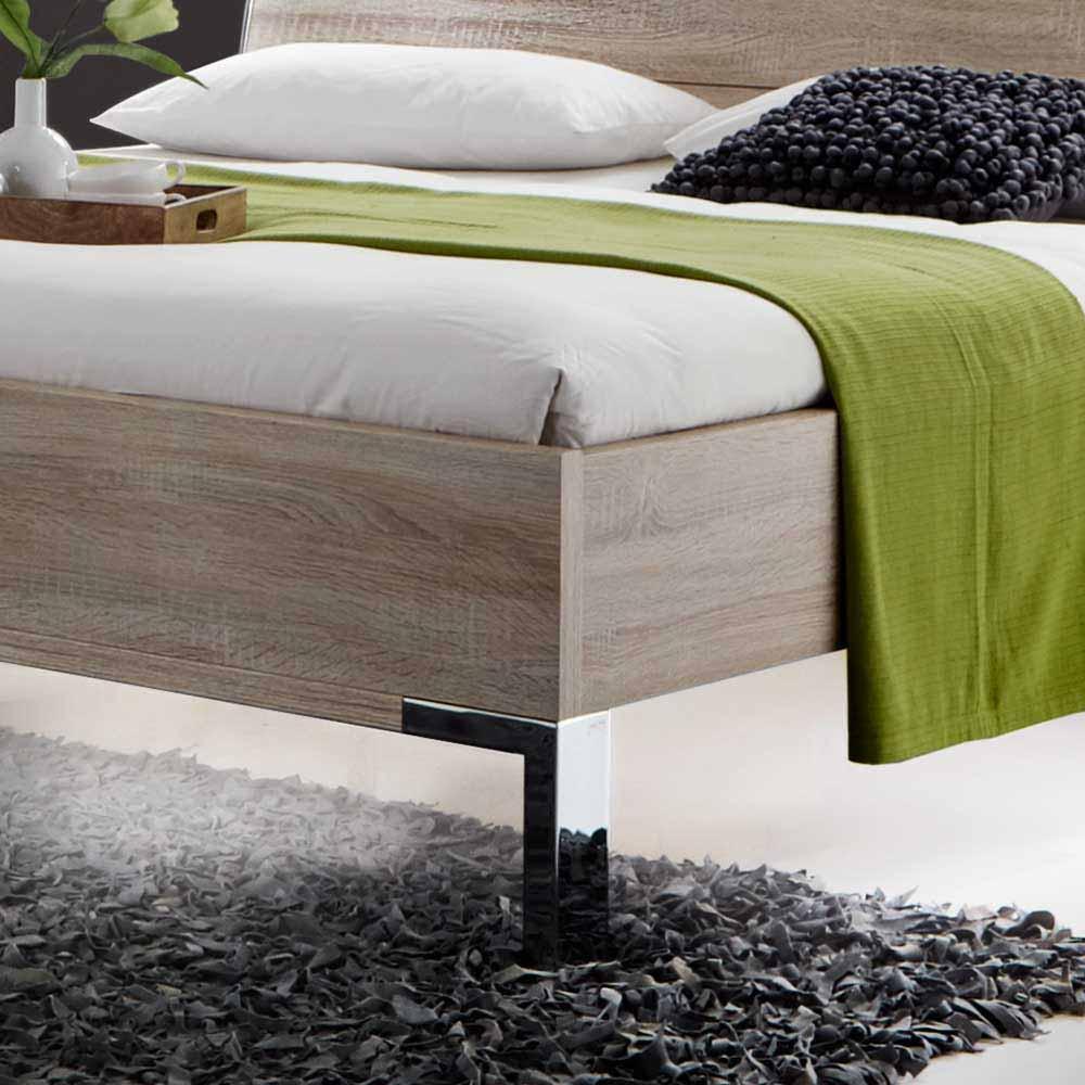 Design Schlafzimmer Set in Wei  Eiche Baxura  Wohnende