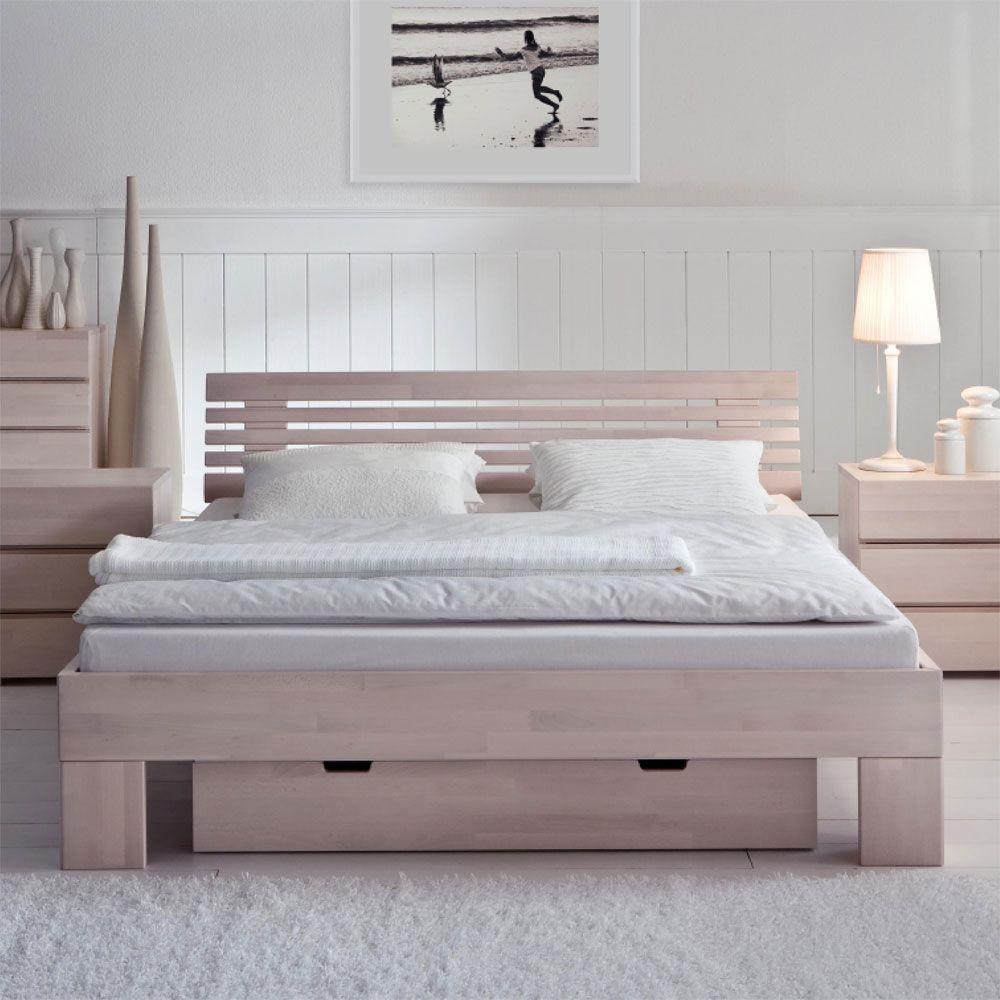 Doppelbett Harrison mit Bettkasten aus Buche  Wohnende
