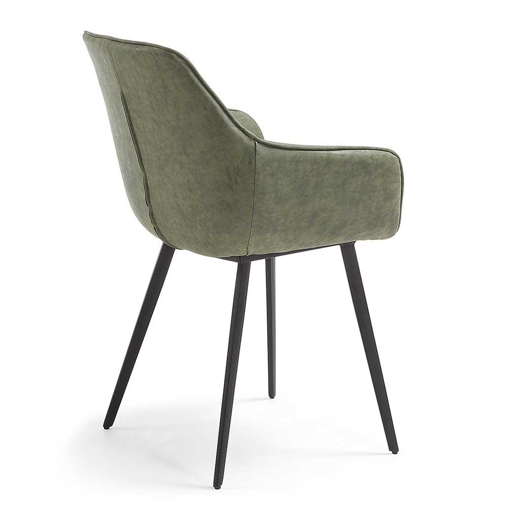 Esszimmer Sessel in Kunstleder Grn Edimura  Wohnende
