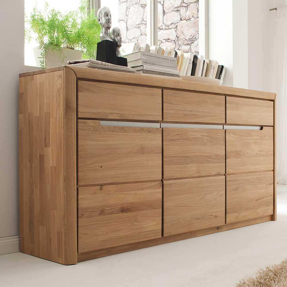 Esszimmer Sideboard Croconia aus Wildeiche Massivholz
