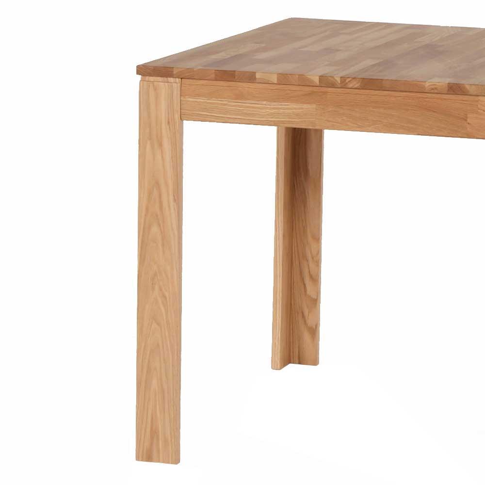 Esszimmertisch Bendura aus Eiche Massivholz quadratisch
